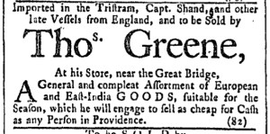 Jun 3 - 6:3:1769 Providence Gazette