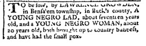 Jun 5 - Pennsylvania Chronicle Slavery 1