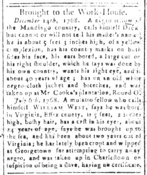 Jun 5 - South-Carolina and American General Gazette Slavery 9