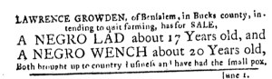 Jun 8 - Pennsylvania Journal Slavery 1