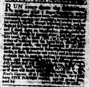 Aug 10 - Virginia Gazette Rind Slavery 2