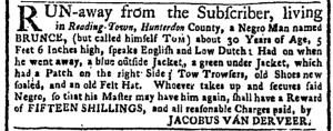 Aug 7 - New-York Gazette or Weekly Post-Boy Slavery 1