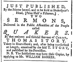 Jul 1 - 7:1:1769 Providence Gazette