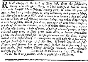 Jul 13 - Pennsylvania Gazette Slavery 1
