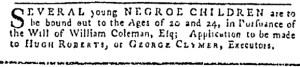 Jul 13 - Pennsylvania Gazette Slavery 3