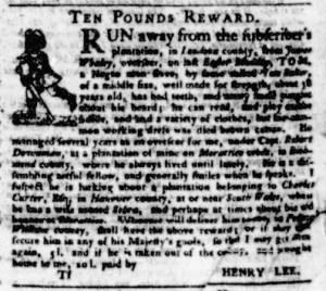 Jul 13 - Virginia Gazette Purdie and Dixon Slavery 5