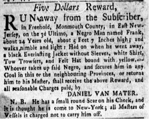 Jul 17 - New-York Gazette Weekly Mercury Slavery 5