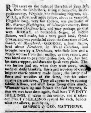 Jul 20 - Virginia Gazette Rind Slavery 7
