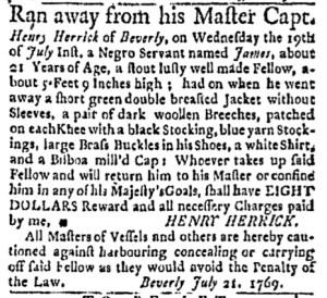 Jul 24 - Boston Evening-Post Slavery 1