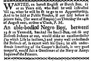 Jul 24 - Boston-Gazette Slavery 1