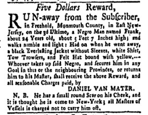 Jul 24 - New-York Gazette Weekly Mercury Slavery 6