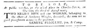 Jul 27 - South-Carolina Gazette Slavery 2