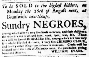 Jul 27 - Virginia Gazette Purdie and Dixon Slavery 2