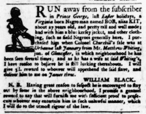 Jul 27 - Virginia Gazette Purdie and Dixon Slavery 5