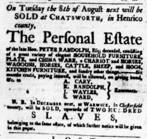 Jul 27 - Virginia Gazette Purdie and Dixon Slavery 6