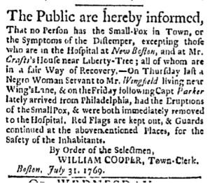 Jul 31 - Boston Evening-Post Slavery 1