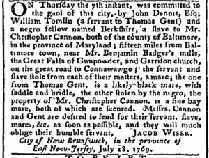Jul 31 - Pennsylvania Chronicle Slavery 2