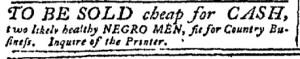 Jul 31 - Pennsylvania Chronicle Slavery 4