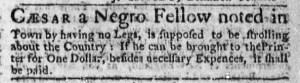 Aug 24 - Boston Weekly News-Letter Slavery 1