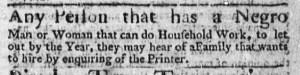 Aug 24 - Boston Weekly News-Letter Slavery 2
