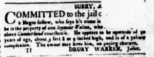 Aug 24 - Virginia Gazette Purdie and Dixon Slavery 6