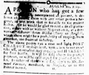 Aug 24 - Virginia Gazette Rind Slavery 1
