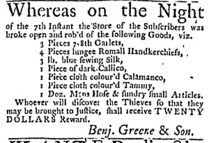 Aug 31 - 8:31:1769 Massachusetts Gazette Draper