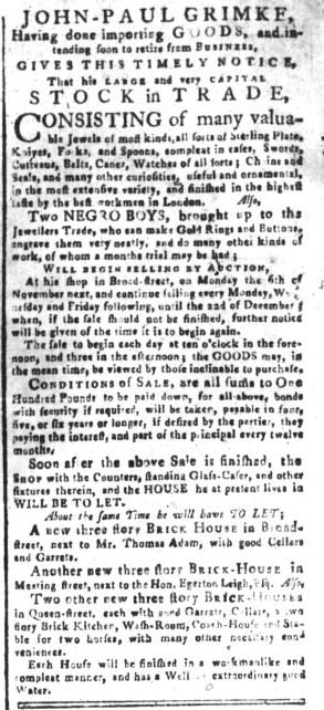 Sep 18 - South-Carolina and American General Gazette Slavery 5