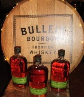 bulleit whiskey display photo by john r. Dunham for advicesisters.com whiskey article