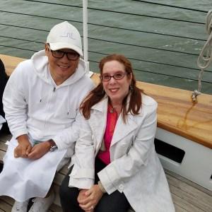 chef morimoto and Alison Blackman
