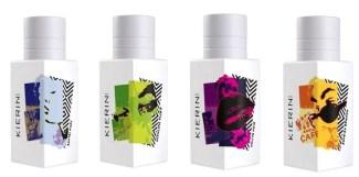 stock photo 4 kierin nyc fragrance bottles