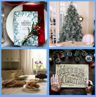holiday decor ideas collage holiday dining rom