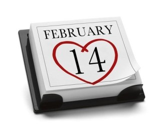 heart and date february 14th