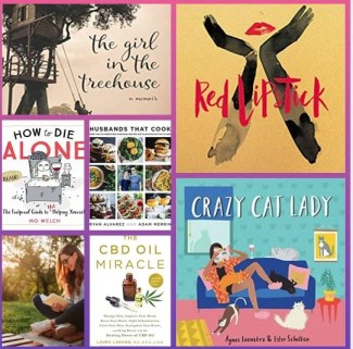 collage of spring books for advicesisters.com book review story