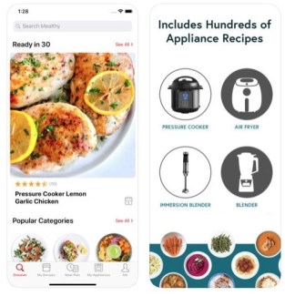 a screenshot of the mealthy food prep app