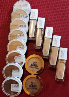 face makeup from Maybelline