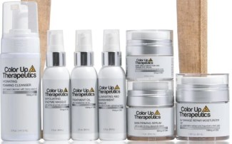 skincare line of CBD products for color up therapeutics