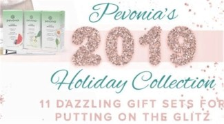 pevonia holiday logo giftables stock photo