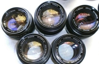 just a small sample of Olympus lenses