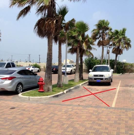 Slim Parking Lot Island