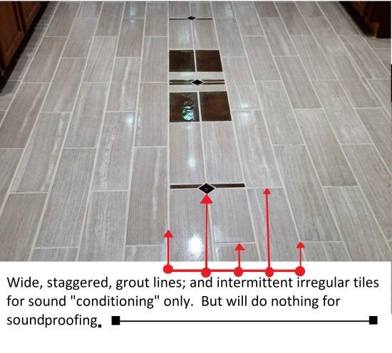 Tiles designed for sound conditioning efforts