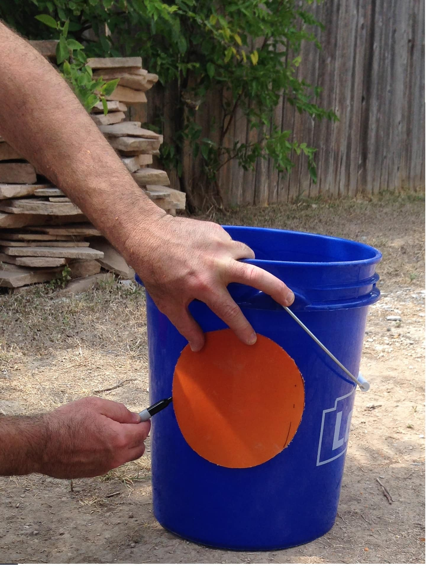 Using Cut Out Circle for bucket drawing