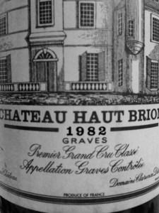 1982 Chateau Haut Brion