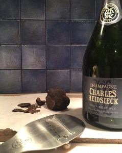 Champagne and truffle