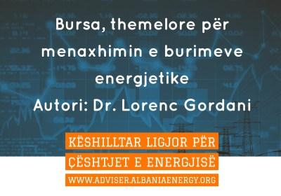 Bursa, themelore për menaxhimin e burimeve energjetike
