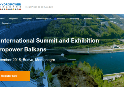 "2nd Annual Summit ""Hydropower Balkans 2018"""