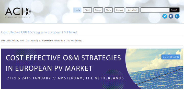 Cost Effective O&M Strategies in European PV Market