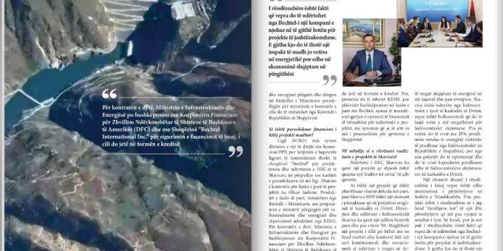 Bechtel merr përsipër realizimin e projektit madhor te Skavicës
