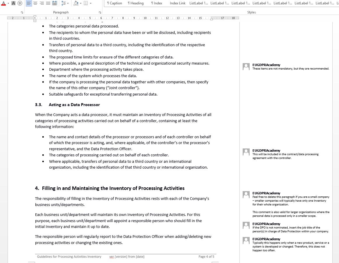 Eu Gdpr Documentation Toolkit