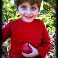 One Word Photo Challenge: Red (Apple Picking with Great-Grandma)